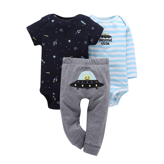 09c3918fc650f $18.16 2019 baby boy clothes suits 3 pcs sets roupas de bebes baby girl  clothes pijama cueca infantil pijama minions newborn