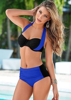 8cc93d47b2d NAKIAEOI 2019 New Sexy Bikinis Women Swimsuit High Waisted Bathing Suits  Swim Halter Push Up Bikini Set Plus Size Swimwear 4XL