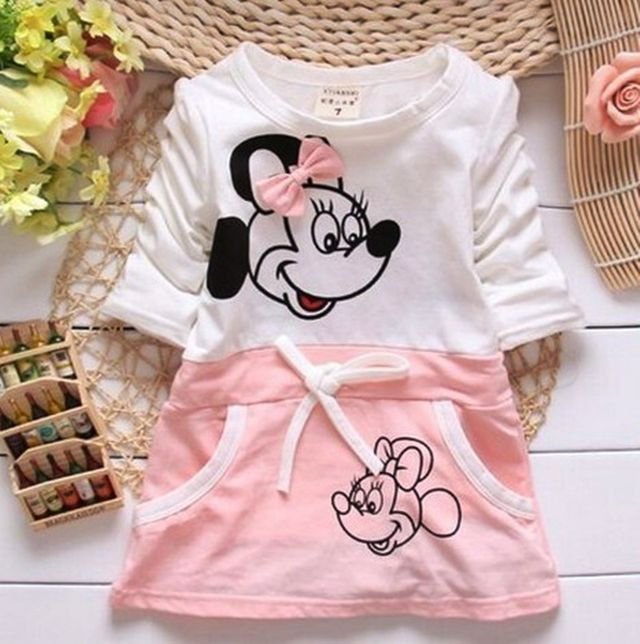11.79 New Kids baby girl dress cute cartoon children Dress baby Clothes 78ec513feb3f